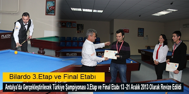 Bilardo 3.Etap ve Final Etabı